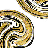 Vector Illustration of Marbling Texture.  Royalty Free Stock Image