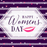 Vector illustration of 8 march womens day greeting Royalty Free Stock Image