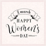 Vector illustration of 8 march womens day greeting. Vector illustration of stylish 8 march womens day greeting card with lettering typography text sign and royalty free illustration