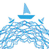 Vector illustration Marine banner Royalty Free Stock Images