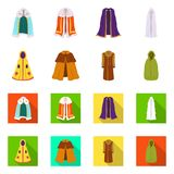 Vector design of material and clothing sign. Set of material and garment stock vector illustration. stock illustration