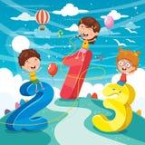 Vector Illustration Of Math Kids. Eps 10 Stock Image