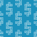 Vector illustration of maze dollar labyrinth flat Stock Photo