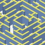 Vector illustration of maze.Isometric labyrinth Royalty Free Stock Photo
