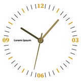 Vector illustration of mechanical clock. Royalty Free Stock Images