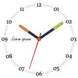 Vector illustration of mechanical clock. Stock Image