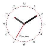 Vector illustration of mechanical clock Royalty Free Stock Photos