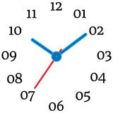 Vector illustration of mechanical clock. royalty free illustration