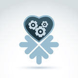 Vector illustration of a mechanical heart. Love machine Stock Images