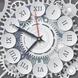 Vector illustration of mechanical watches. Roman dial of the wat royalty free illustration