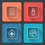 Vector illustration of media icons Stock Photo