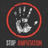 Vector illustration. The medical diagnosis. Stop amputation. Stock Photos