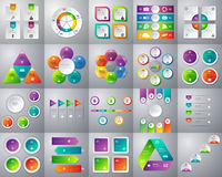 Vector illustration of a mega collection of colorful infographic.  Stock Images