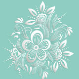 Vector illustration of mehndi ornament. Traditional indian style, ornamental floral elements for henna tattoo Royalty Free Stock Image
