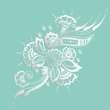 Vector illustration of mehndi ornament. Traditional indian style, ornamental floral elements for henna tattoo Stock Photos