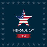 Vector illustration of memorial day Royalty Free Stock Photos