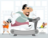 Men in the gym. Vector illustration of men in the gym stock illustration