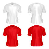 Illustration of mens T-shirt isolated Royalty Free Stock Photo