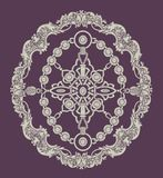 Seamless Hand Drawn Ethnic Pattern. Vector illustration of merris ornament. Traditional Eastern Europ style, ornamental floral elements for henna Stock Images