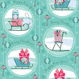 Vector illustration of Merry Christmas gifts. Stock Photo