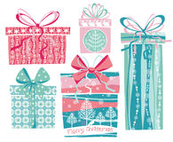Vector illustration of Merry Christmas gifts. Stock Photography