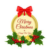 Vector illustration. Merry Christmas and a Happy Royalty Free Stock Photography