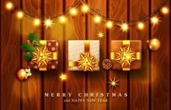 Vector illustration for Merry Christmas and Happy New Year . Gre royalty free illustration