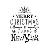 Vector illustration Merry Christmas and Happy new year message vector illustration