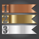 Vector Illustration, Metal Flag Banner for Design and Creative W Royalty Free Stock Photos