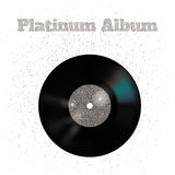 Vector illustration of metal vinyl disk: platinum vector illustration