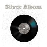 Vector illustration of metal vinyl disk:silver vector illustration