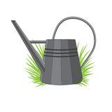 Vector illustration of a metal watering can Royalty Free Stock Photos