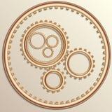 Vector illustration of metallic copper gear wheels Royalty Free Stock Photos