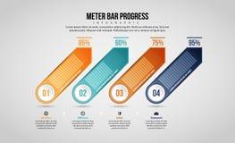Meter Bar Progress Infographic Stock Photography