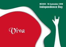 Vector illustration for Mexico independence day on 16 September. For celebrated background vector illustration