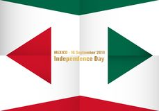 Vector illustration for Mexico independence day on 16 September. For celebrated background stock illustration