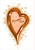 Vector illustration of milk chocolate heart frame Stock Photography