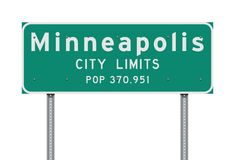 Minneapolis City Limits road sign stock illustration