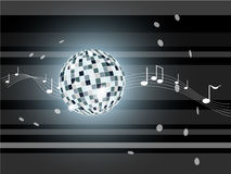 Vector illustration with mirror ball. Royalty Free Stock Photos