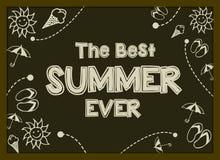Vector Illustration mit Hand gezeichneten Sommerelementen, -symbol und -gegenstand Lizenzfreie Stockbilder