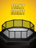 MMA octagon cage. Vector illustration of MMA cage.Mixed martial arts octagon cage stock illustration