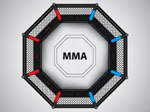 MMA octagon cage Royalty Free Stock Photography