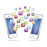 Vector illustration of Mobile Phone Application Royalty Free Stock Photography