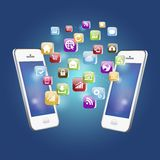 Vector illustration of Mobile Phone Application Royalty Free Stock Photos