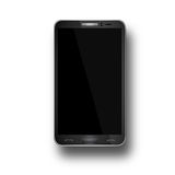 Vector illustration of a mobile phone black. Royalty Free Stock Photography