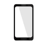 Vector illustration of a mobile phone black. Stock Photo