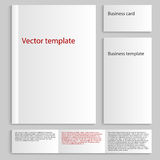 Vector illustration of a mock up card a4. Business Card Template Stock Images