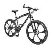 Vector illustration moden bicycle  on white background Royalty Free Stock Photos