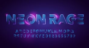 Free Vector Illustration Modern And Futuristic Neon Alphabet Font. Urban Style Technology Typography Royalty Free Stock Photos - 160636068
