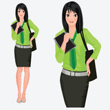 Modern anime business lady Royalty Free Stock Photography
